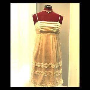 Hemline Silk Dress